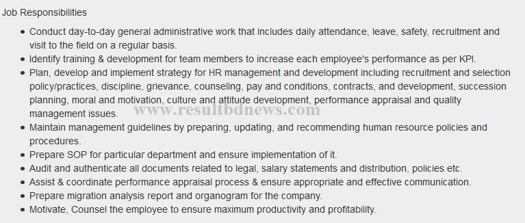 Job Responsibilities of Keya Group