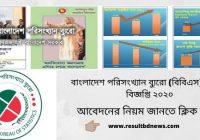 বাংলাদেশ পরিসংখ্যান ব্যুরো (বিবিএস) নিয়োগ বিজ্ঞপ্তি ২০২০