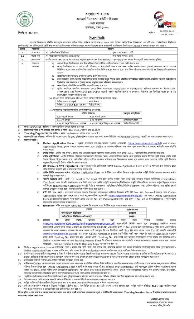 BHBFC Job Circular 2020