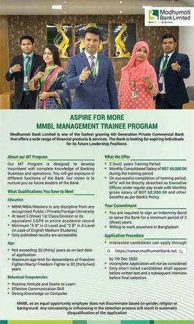 Modhumoti Bank Job Circular 2020