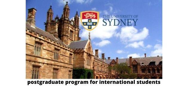 Sydney University Scholarship 2021