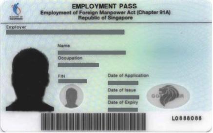 Singapore Work Visa 2021