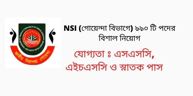 NSI Job Circular 2021