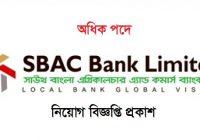 SBAC Bank Job Circular 2021