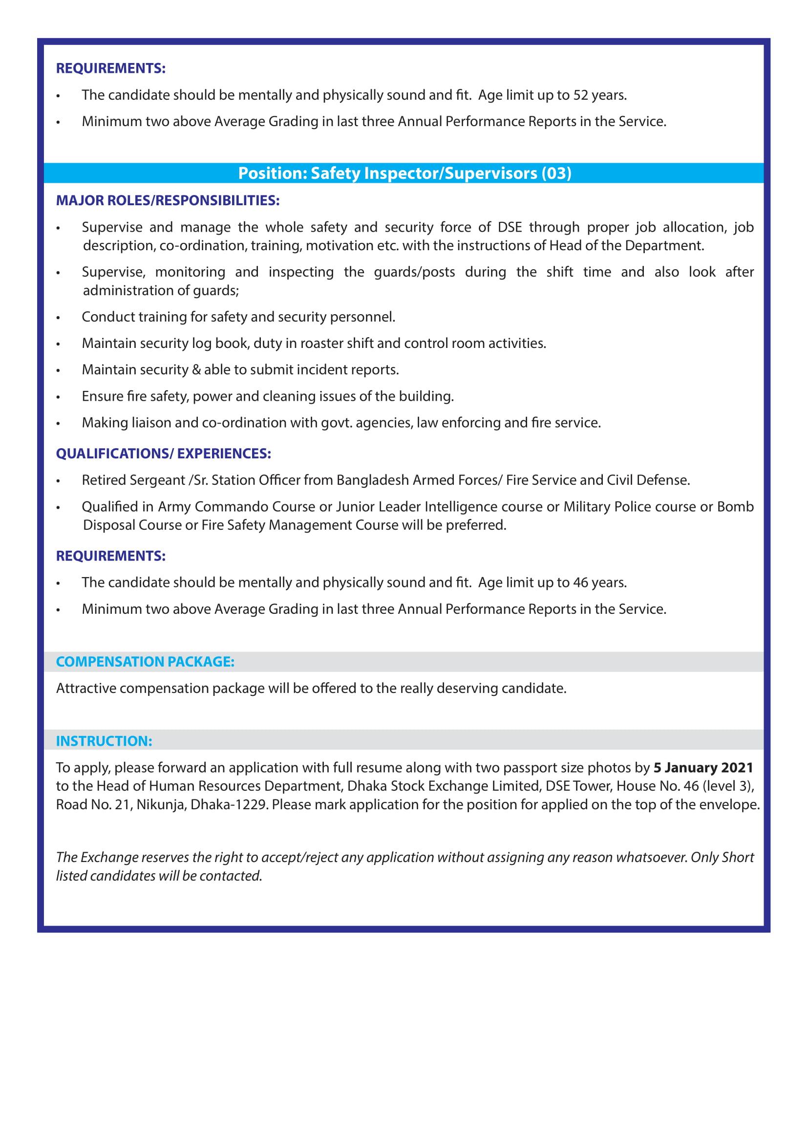 DSE Job Circular 2021