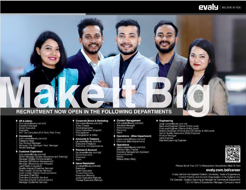 Evaly Job Circular 2021